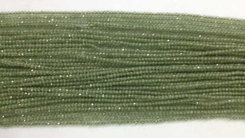 Green Apatite Faceted Beads