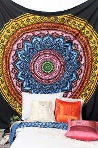 Round Mandala India Tapestry