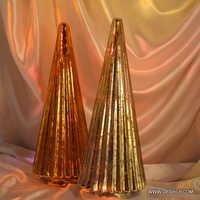 Christmas Light Glass Ornament Ball Dark Champagne Gold Glass Ball Christmas Ornament