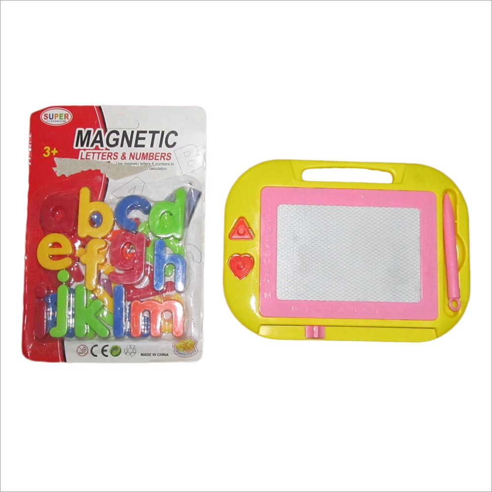 PTCMART Small Multicolor Magic Slate And Magnetic Letters  For Kids