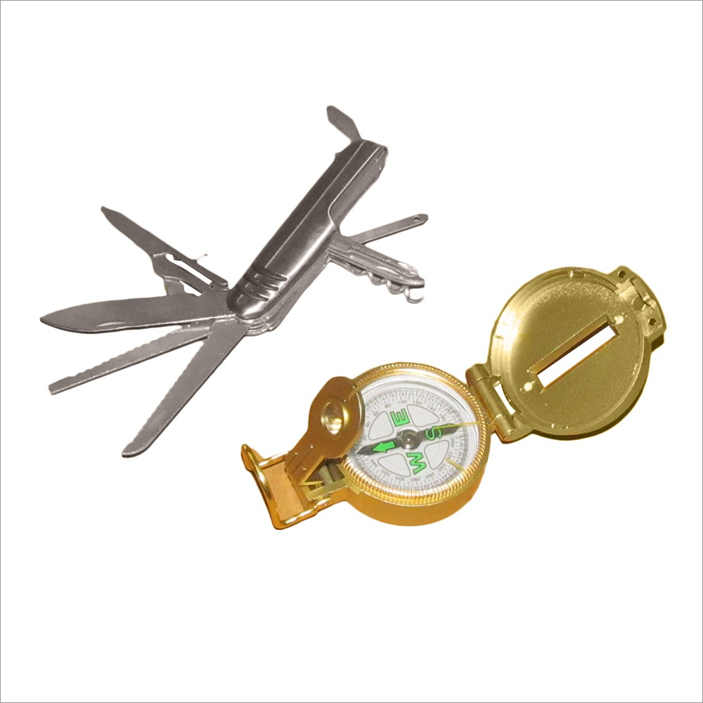 Multi Knife Magnetic Compass