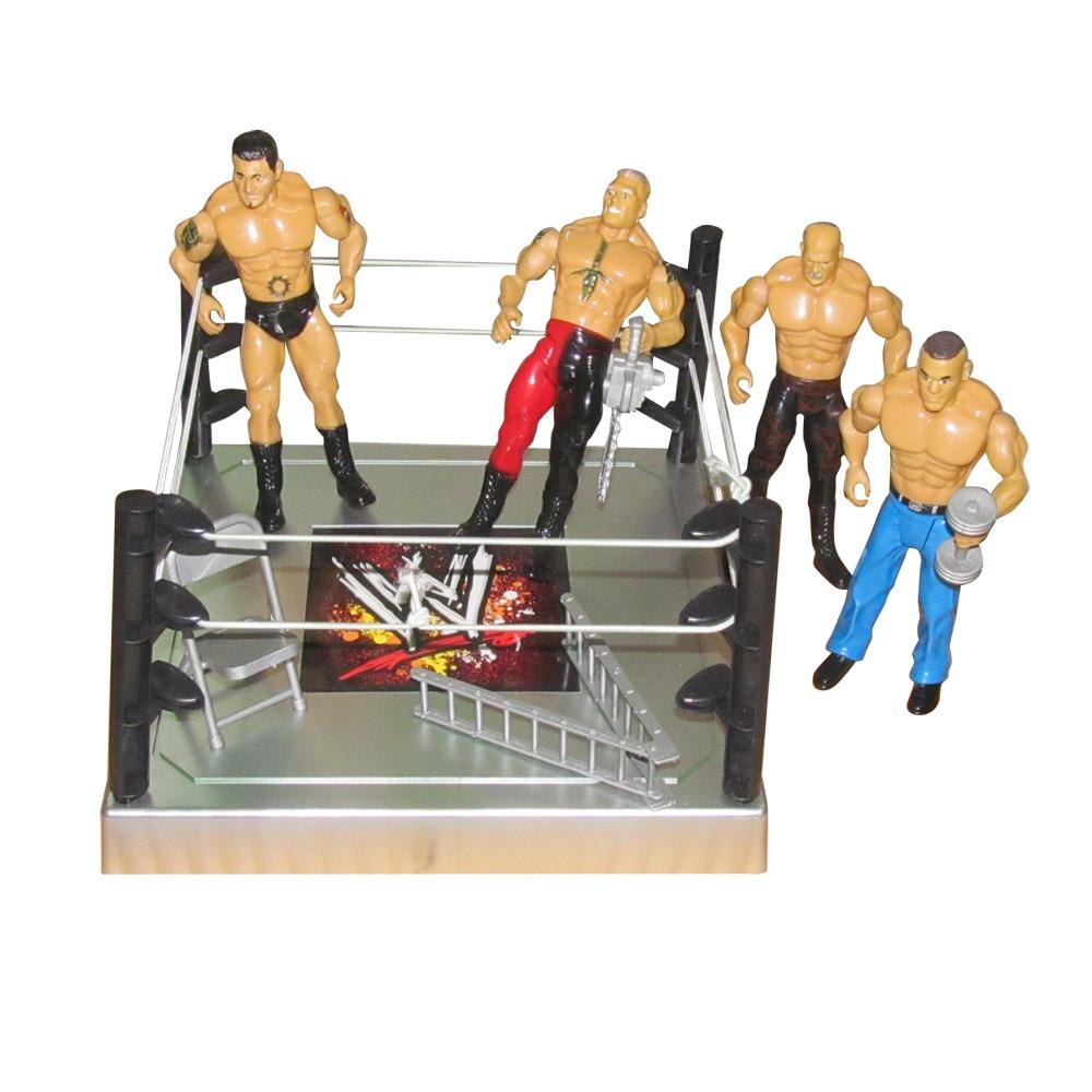 WWE 4 Wrestling Action Figures