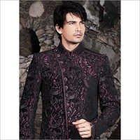 Mens Black Beautiful Sherwani