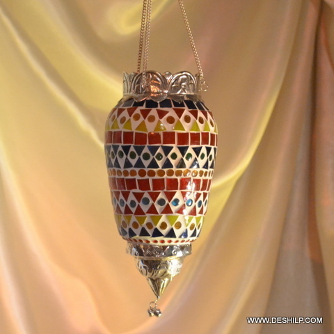 GLASS T-LIGHT HANGING, ANTIQUE AND DECORATIVE WALL HANGING