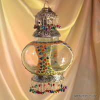 Moroccan Lantern Hanging Lamp Glass Chandelier Light Lampen Handmade Candle