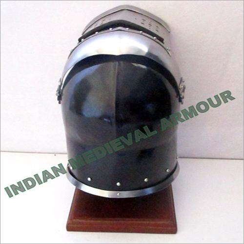 Medieval Magneto Helmet With Visor Back