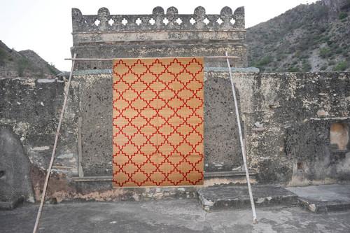 Handmade Zanjeer Durrie,Cotton Flat Weave,Trendy Pattern Rug