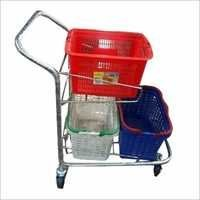 Heavy Steel Shopping Trolley