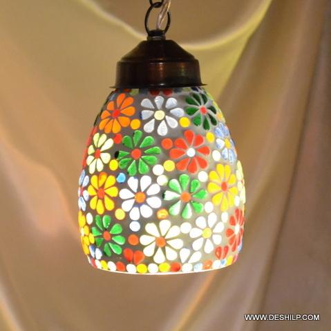 Hanging Kandil Lamps Crystal Star Single Hanging Kandil Lamps Golden Single Hanging