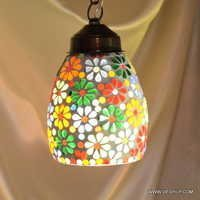 Hanging Kandil Lamps Crystal Star Single Hanging Kandil Lamps Golden Single Hanging