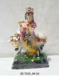 Jewellry Cow Krishna Statue