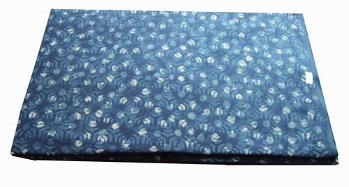 Hand Block Printed Cotton Indigo bagru dabu Fabric