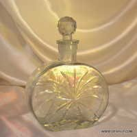Clear Antique Art Deco Cut Glass Decanter Bottle