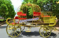 Luxury Wedding Golden Cinderella Carriage