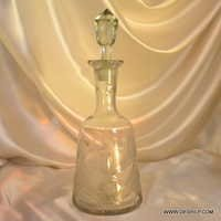 Antique Clear Cutting Crackle Decanter