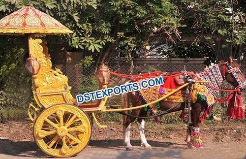 Golden Wedding Small Horse Cart