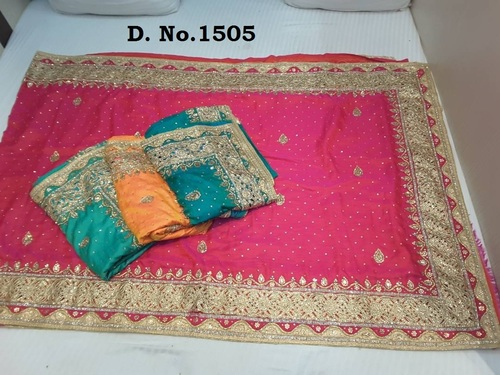 Stone Work Designer Saree In Surat