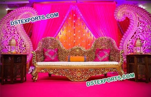 Royal Indian Wedding Stage Sofa