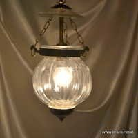 Pendant Light with White Hanging Glass in Finish Hanging