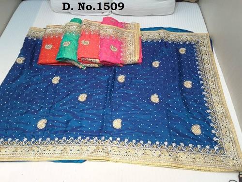 Wholesaler of Designer Stone Work Sarees