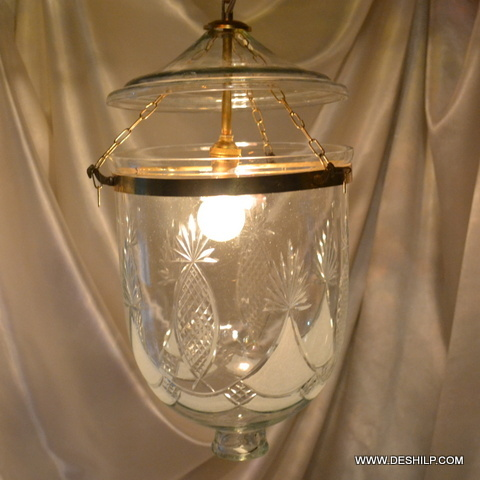Clear Glass Pendant Light Vintage Hanging Lamp Lighting