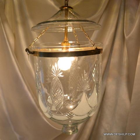Clear Glass Pendant Light Vintage Hanging Lamp Lighting