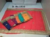 Stone Work Fancy Saree At Wholesale Price