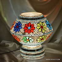 Mosaic Decorated Glass Table Lamp