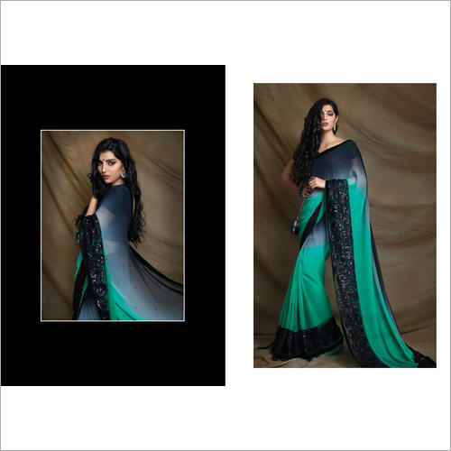 Black Party Wear Saree