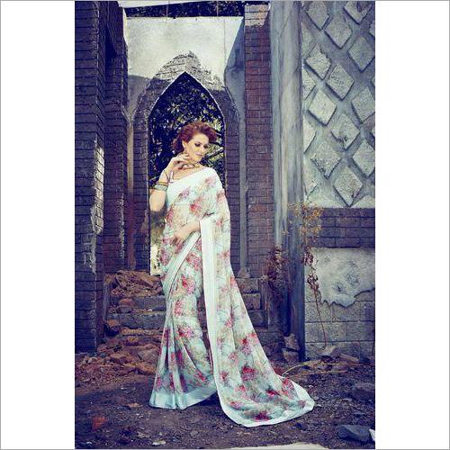 Floral Printed Saree