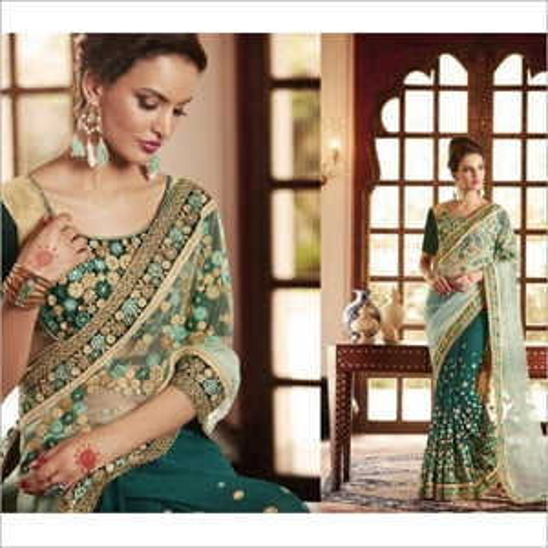 Wedding Net Saree