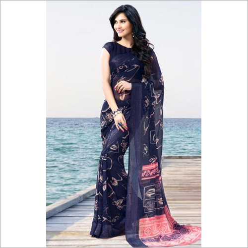 Zari Printed Saree