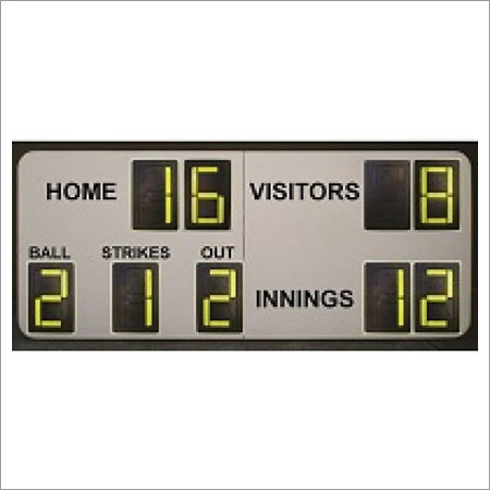 9 Digit Softball Manual Scoreboards