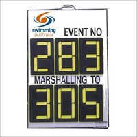 6 digit A Frame Swimming Marshalling Scoreboards