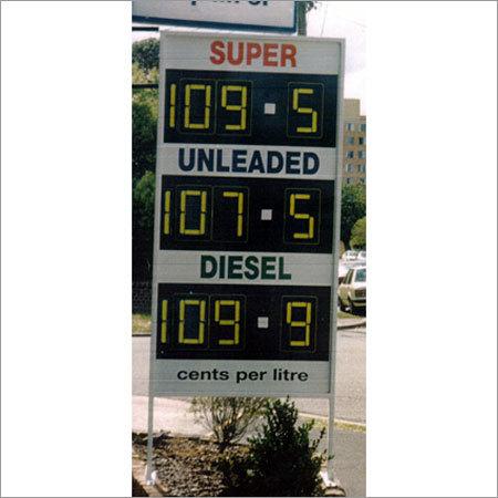 Manual Petrol Price Boards