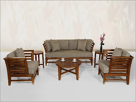 Etonnant Solid Wooden Sofa Set