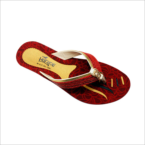 Ladies Red Slipper