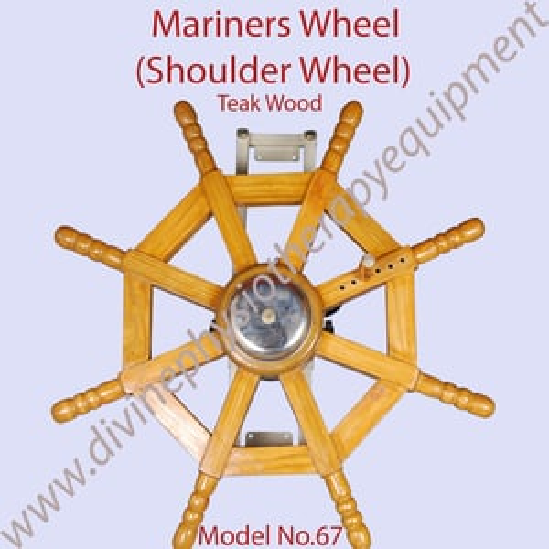 Teak Wood Mariners Wheel