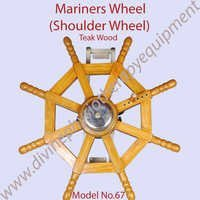 Teak Wood Mariners Wheel