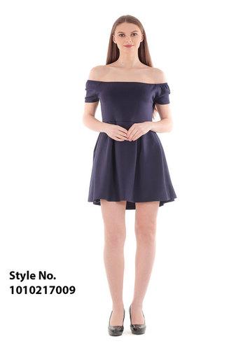 Off Shoulder Blue Short Dress