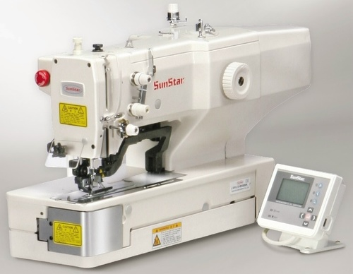 Direct drive, electronically controlled, lock stitch, button hole sewing machine