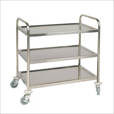 Three Shelf Lab Trolley