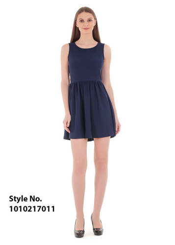 Fit & flared Blue Dress