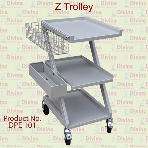 Z type Trolley with Drawer Facility