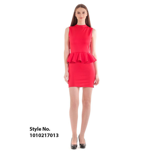 Red Collared Neck Dress