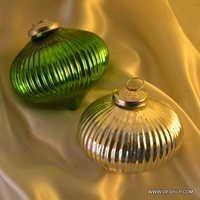 Christmas Light Up Glass Ornament Ball