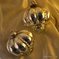 SILVER CHRISTMAS ORNAMENTS,FESTIVAL PARTY ORNAMENTS