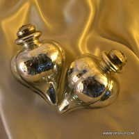 Christmas Ornament Mercury Glass Star Pink Silver Fringe Antique