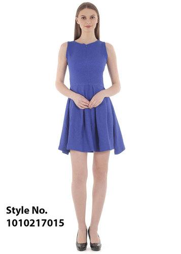 Royal Blue Flared Dress