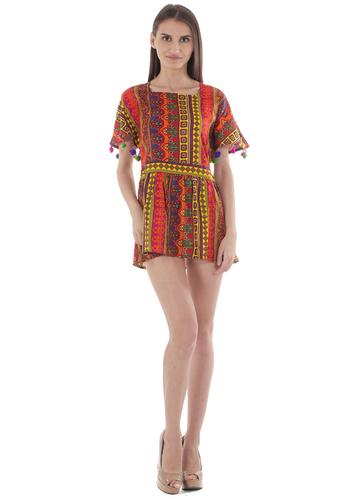 Colorful Pom Pom Dress